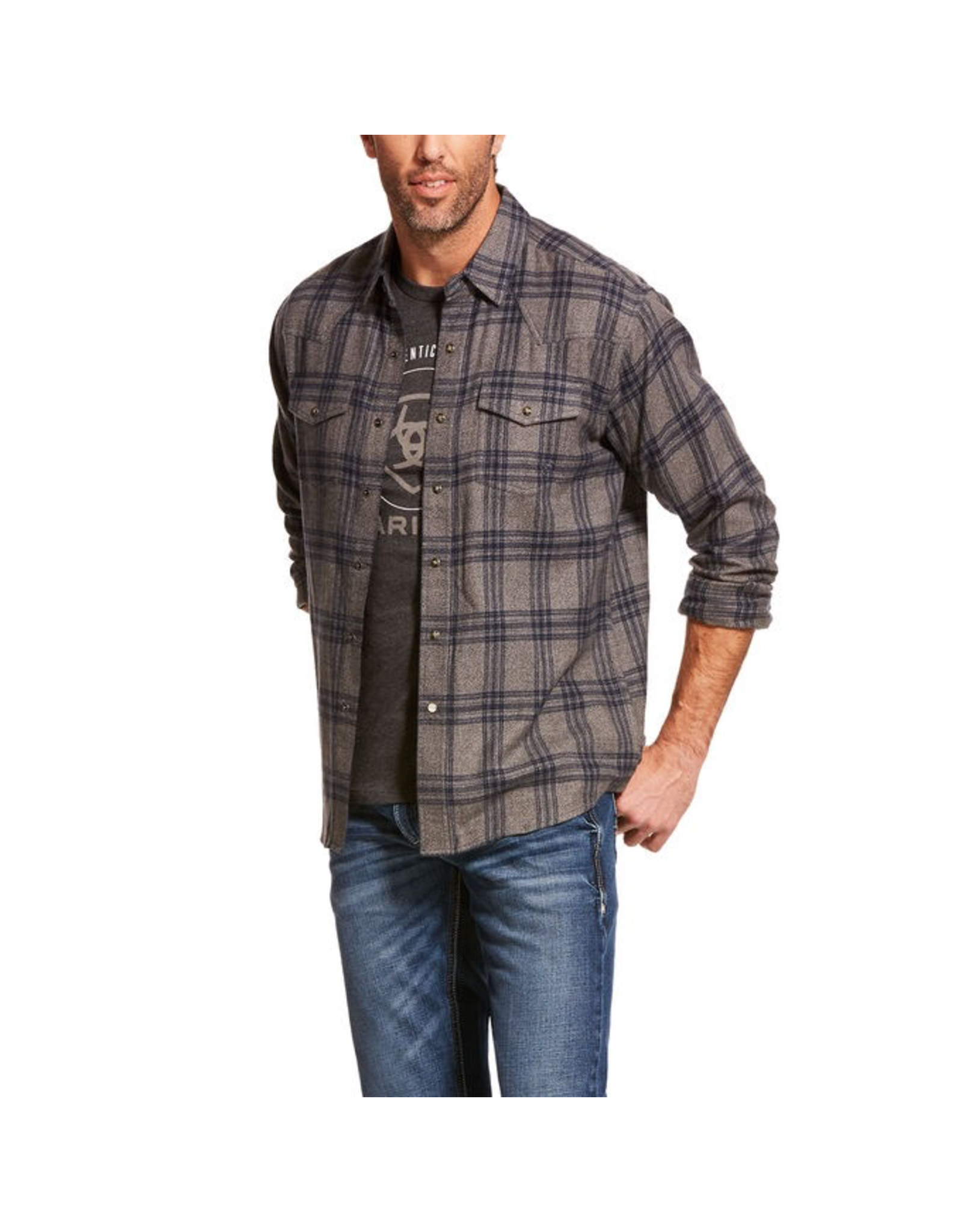 Tops-Men ARIAT Foggie Retro Snap LS