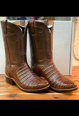 Boots-Men HEWLETT & DUNN 458 9 EE Cigar Caiman & Brn Buffalo Calf