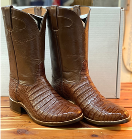 Boots-Men HEWLETT & DUNN 458 9 EE Cigar Caiman & Brn Buffalo Calf