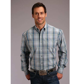 Tops-Men STETSON Men���s Plaid Shirt