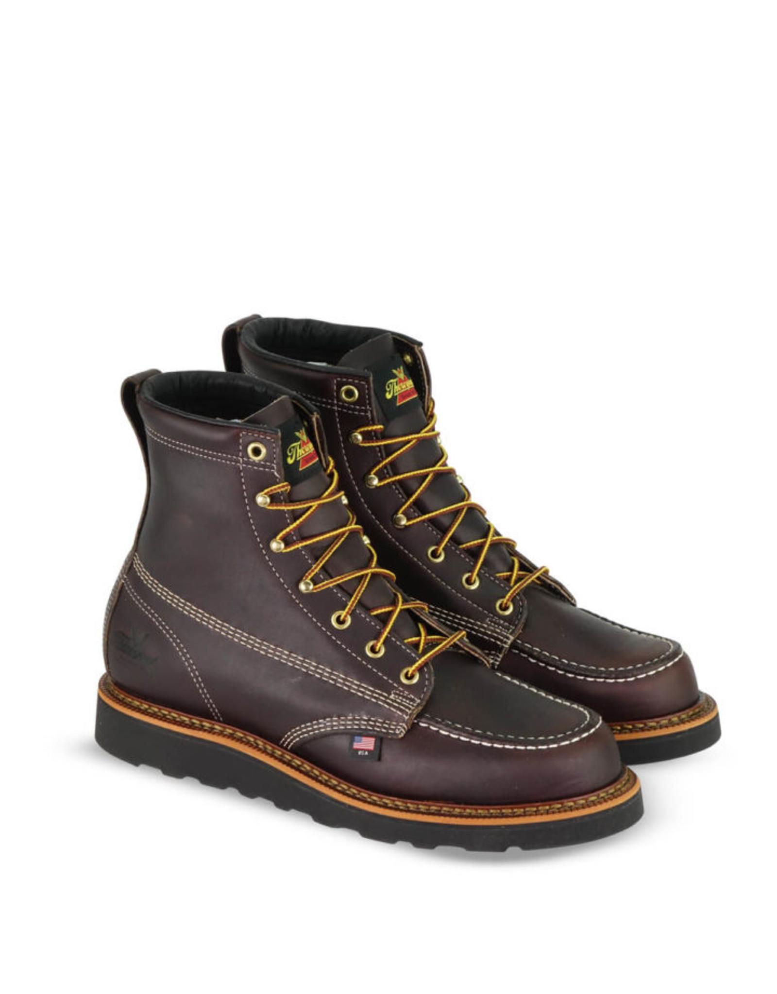 Boots-Men THOROGOOD 814-4266 American Heritage 6in Moc- Black Wedge