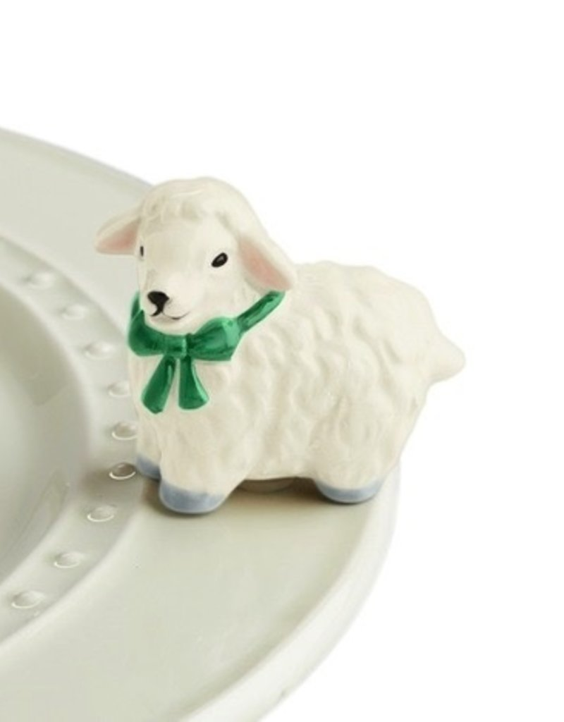 Nora Fleming - I Love Ewe - White Lamb Mini
