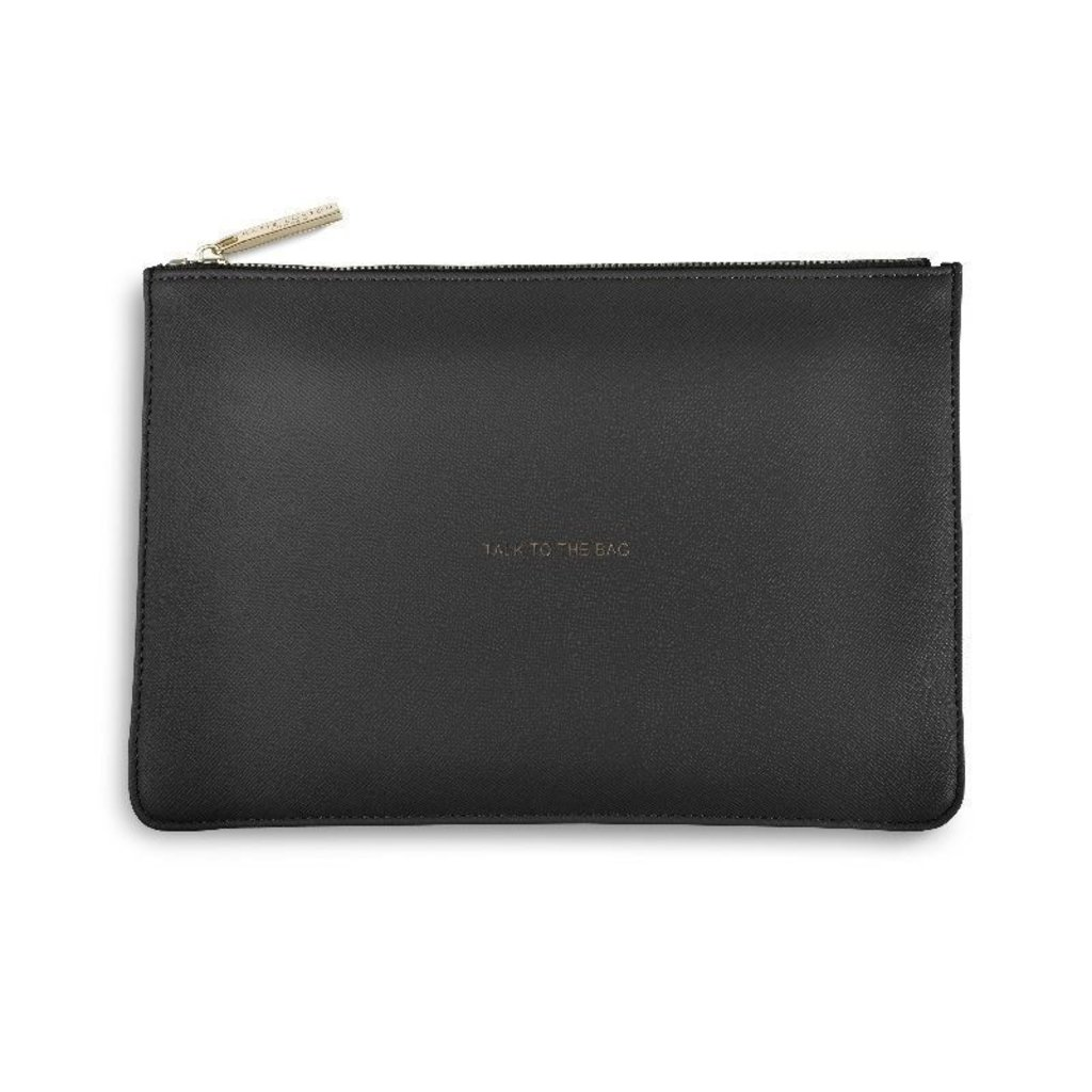 Katie Loxton The Perfect Pouch - Charcoal - Talk to the Bag