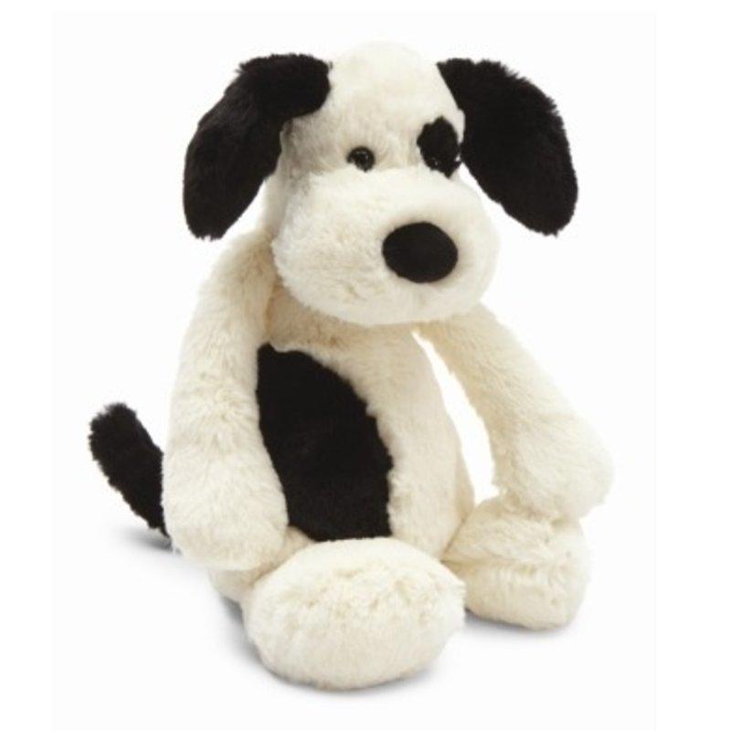 Jellycat Jellycat Bashful Black & Cream Puppy Medium