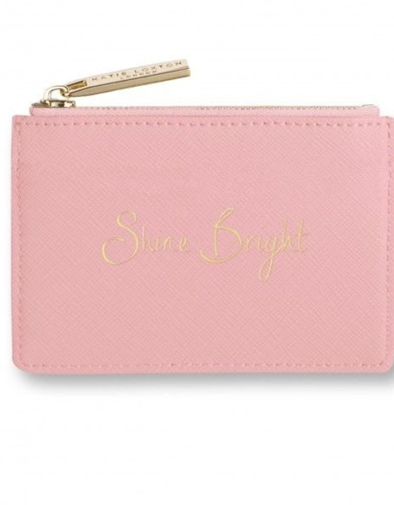 Katie Loxton Card Holder/Coin Purse - Shine Bright - Pink