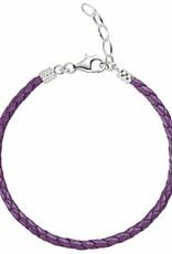 Chamilia One Size Purple Metallic Braided Leather Bracelet