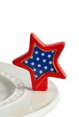 Nora Fleming - Sparkly Star - Red, White & Blue Star Mini