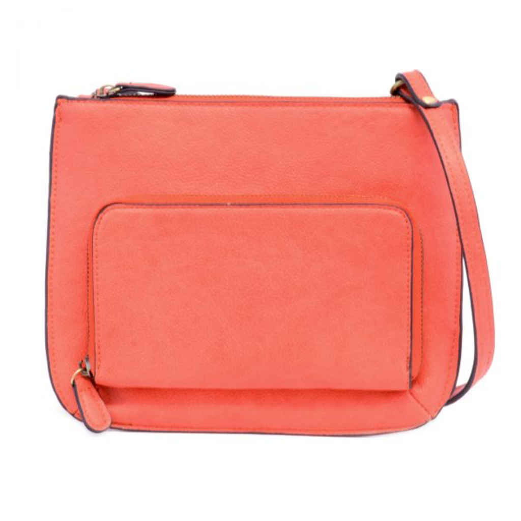 Coral Crossbody with Exterior Pocket