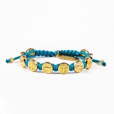My Saint My Hero My Saint My Hero - Benedictine Blessing Bracelet - Gold/Turquoise
