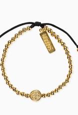 My Saint My Hero - Mantra of Love Bracelet Gold/Black