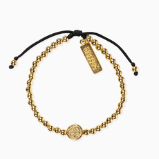 My Saint My Hero My Saint My Hero - Mantra of Love Bracelet Gold/Black
