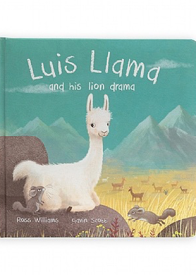 Jelly Cat Luis Llama and His Lion Drama Book