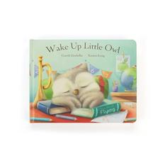 Jellycat Jellycat Wake Up Little Owl Board Book