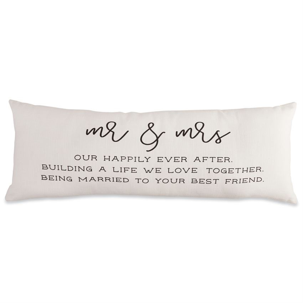 Mud Pie Mud Pie Mr. & Mrs. Definition Pillow