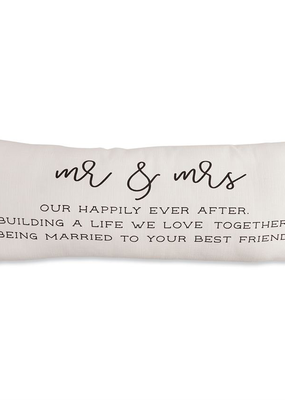 Mud Pie Mr. & Mrs. Definition Pillow
