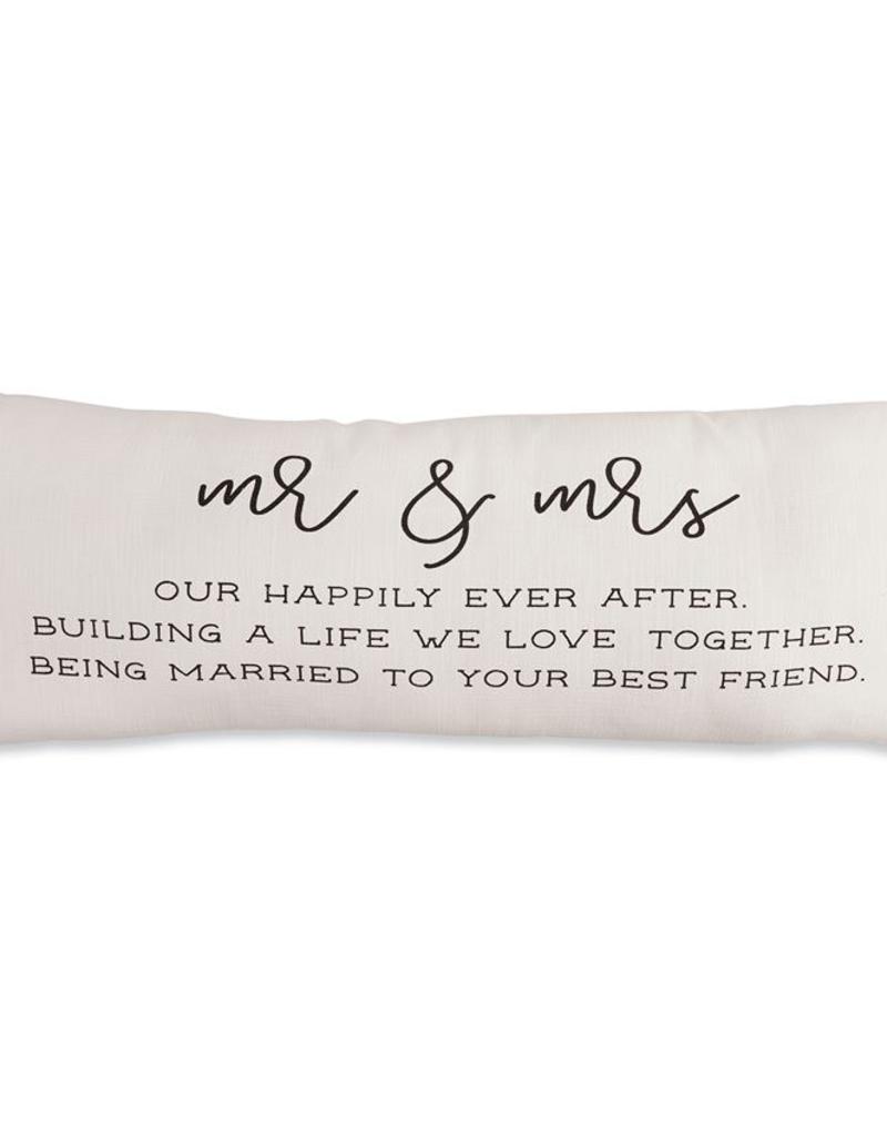 Mud Pie Mr. & Mrs. Definition Pillow