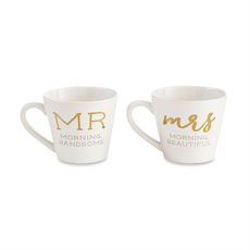 Mud Pie Mr. & Mrs. Boxed Mug Set