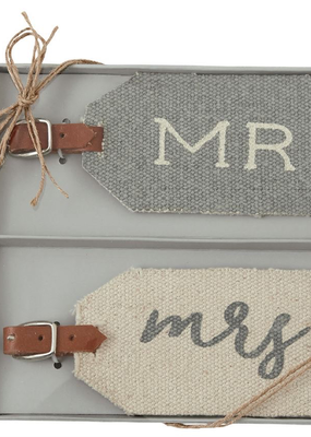 Mud Pie Mr. & Mrs. Luggage Tags