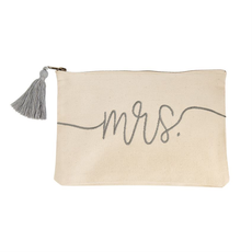Mud Pie Mrs. Canvas Pouch