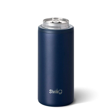 Swig Skinny Can Cooler  - Matte Navy