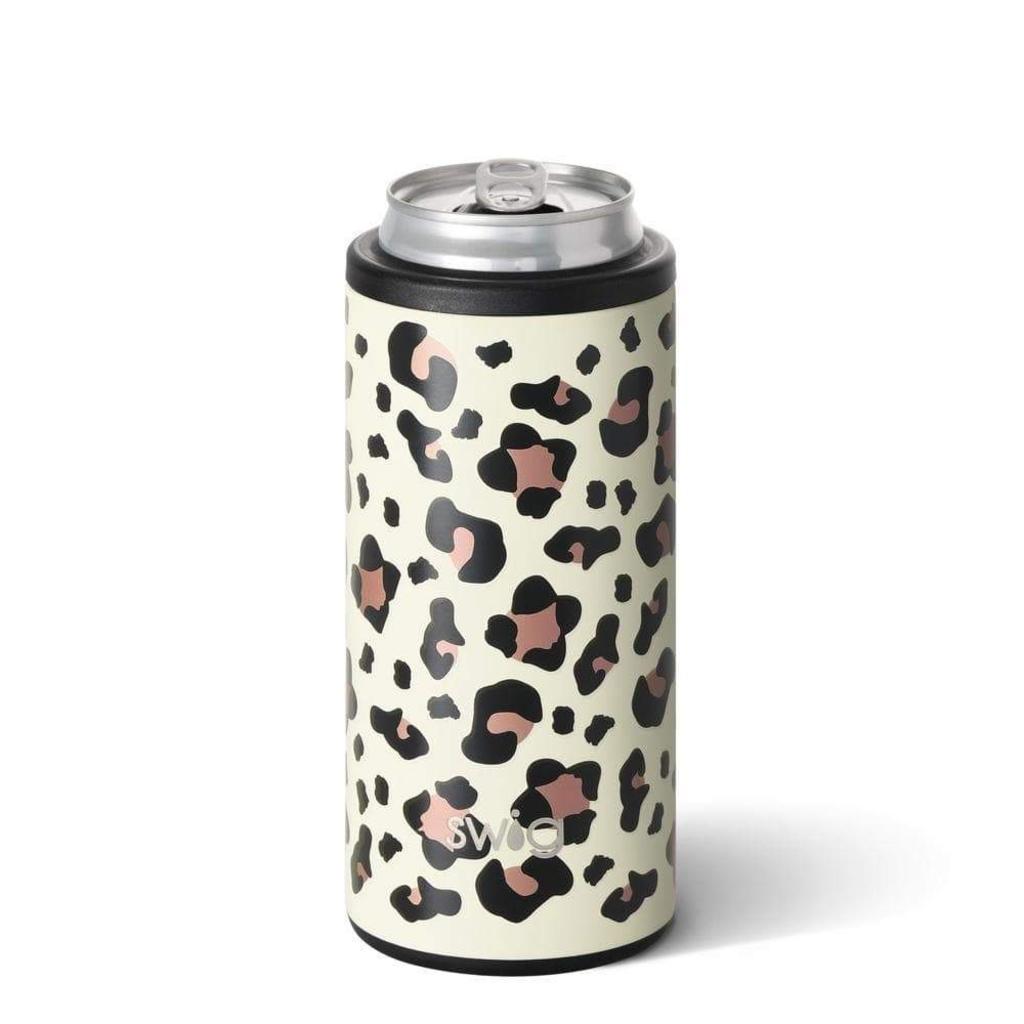 Swig Skinny Can Cooler  - Luxy Leopard