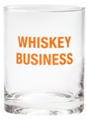 About Face Designs Whiskey Business Glass