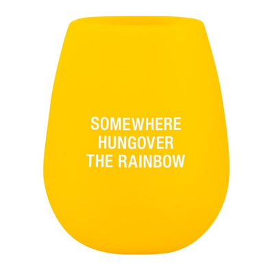 About Face Designs Rainbow Silicone Wine Glass