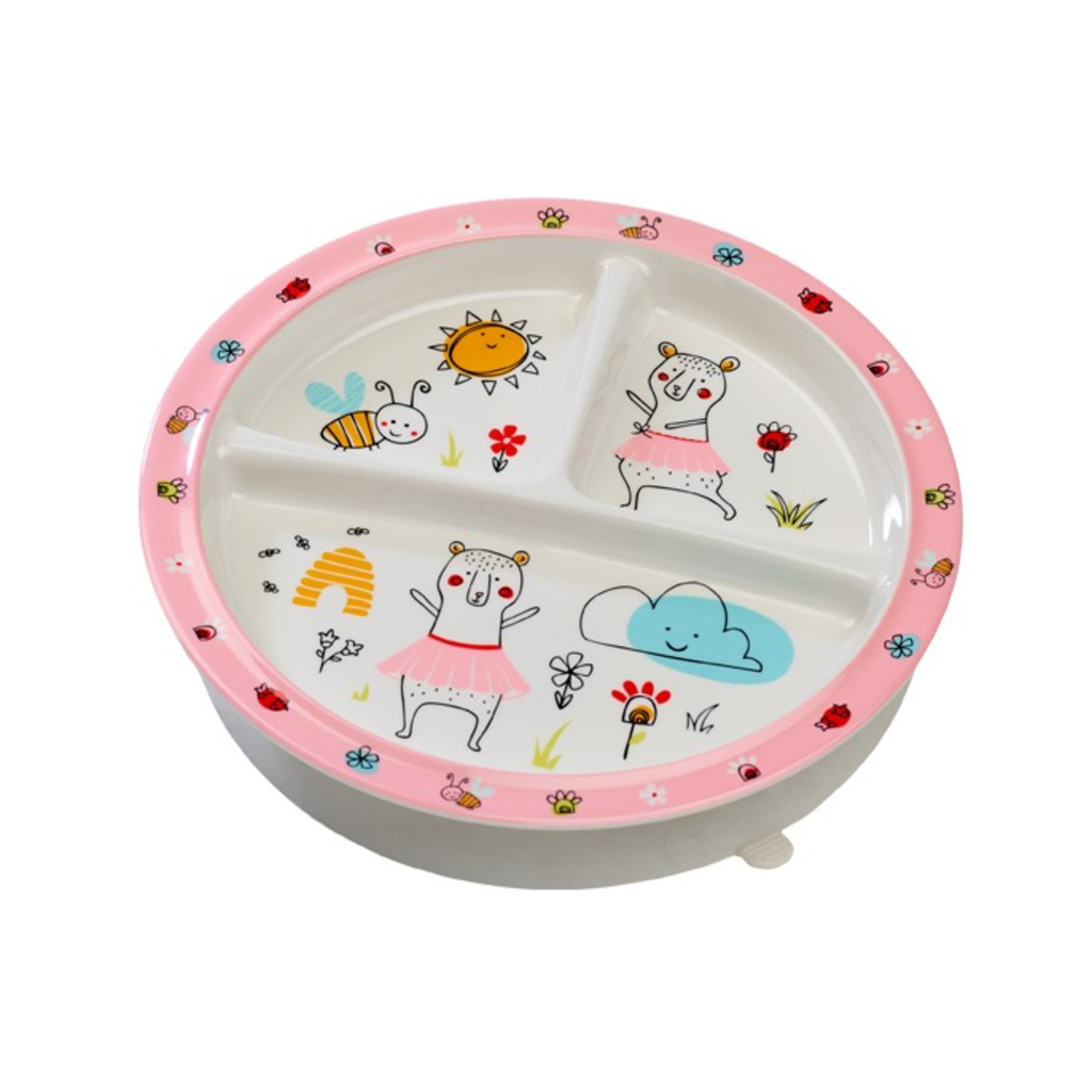 ORE Originals Divided Suction Plate Clementine the Bear