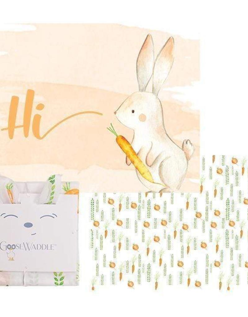 GooseWaddle GooseWaddle 2 PK Receiving Blanket Parsnip Bunny - Carrots