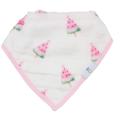 GooseWaddle Watermelon Muslin & Terry Cloth Bib Set