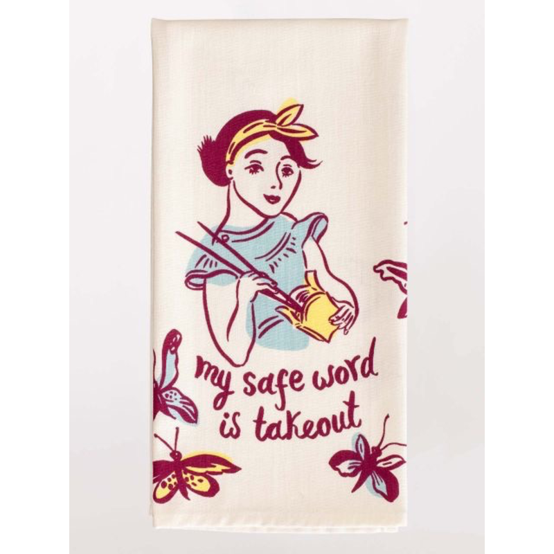 Blue Q Safe Word is Takeout Dish Towel