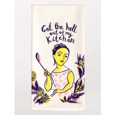Blue Q Blue Q Get The Hell Out Printed Towel