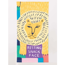 Blue Q Blue Q Resting Snack Face Printed Towel
