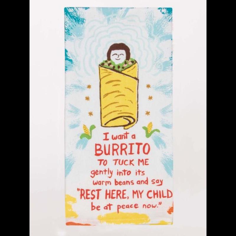 Blue Q I Want A Burrito Dish Towel