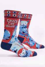 Blue Q Blue Q Crazy Cat Dude Men's Socks