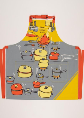 Blue Q Man with a Pan Apron