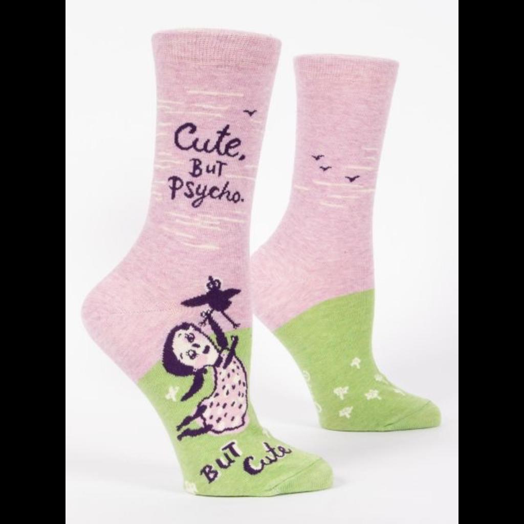 Blue Q Blue Q Cute. But Psycho. Crew Socks