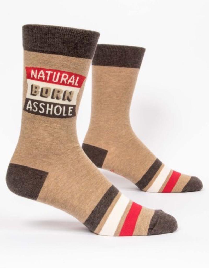 Blue Q Blue Q Natural Born Asshole Men's Crew Socks