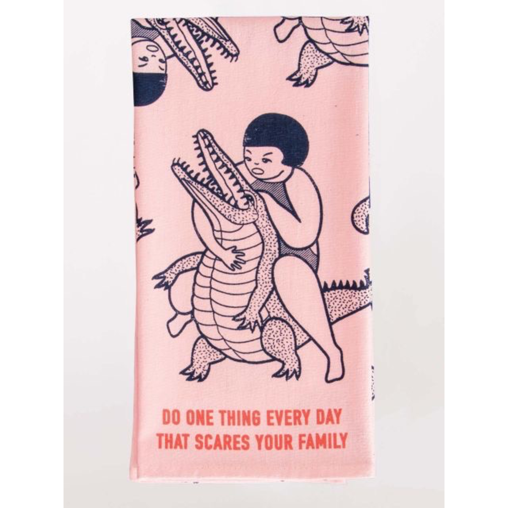 Blue Q Blue Q Scares Your Family Printed Towel