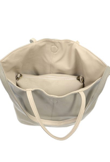 Light Grey Riley Reversible Slouchy Tote