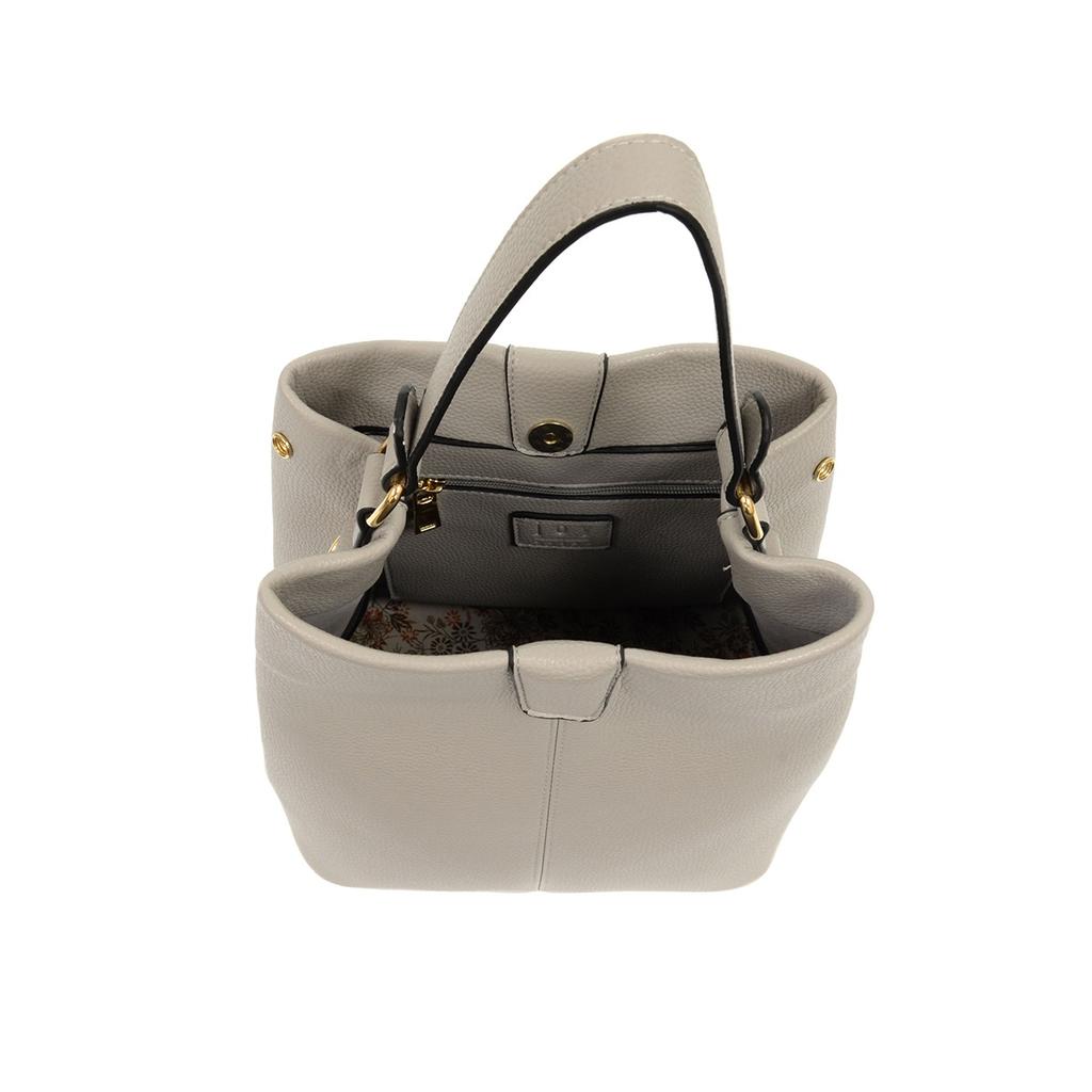 Grey Ava Convertible Shoulder Bag