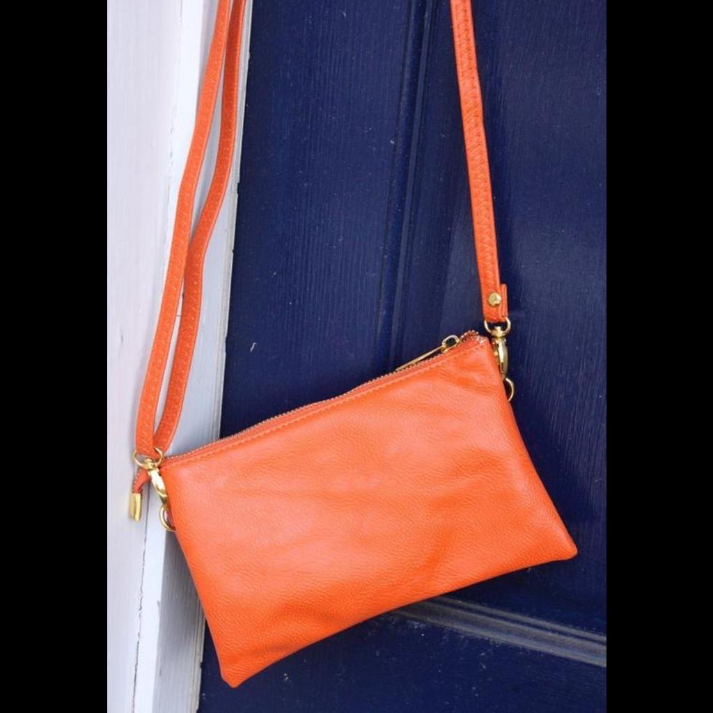Caroline Hill Liz Crossbody Bag - Orange
