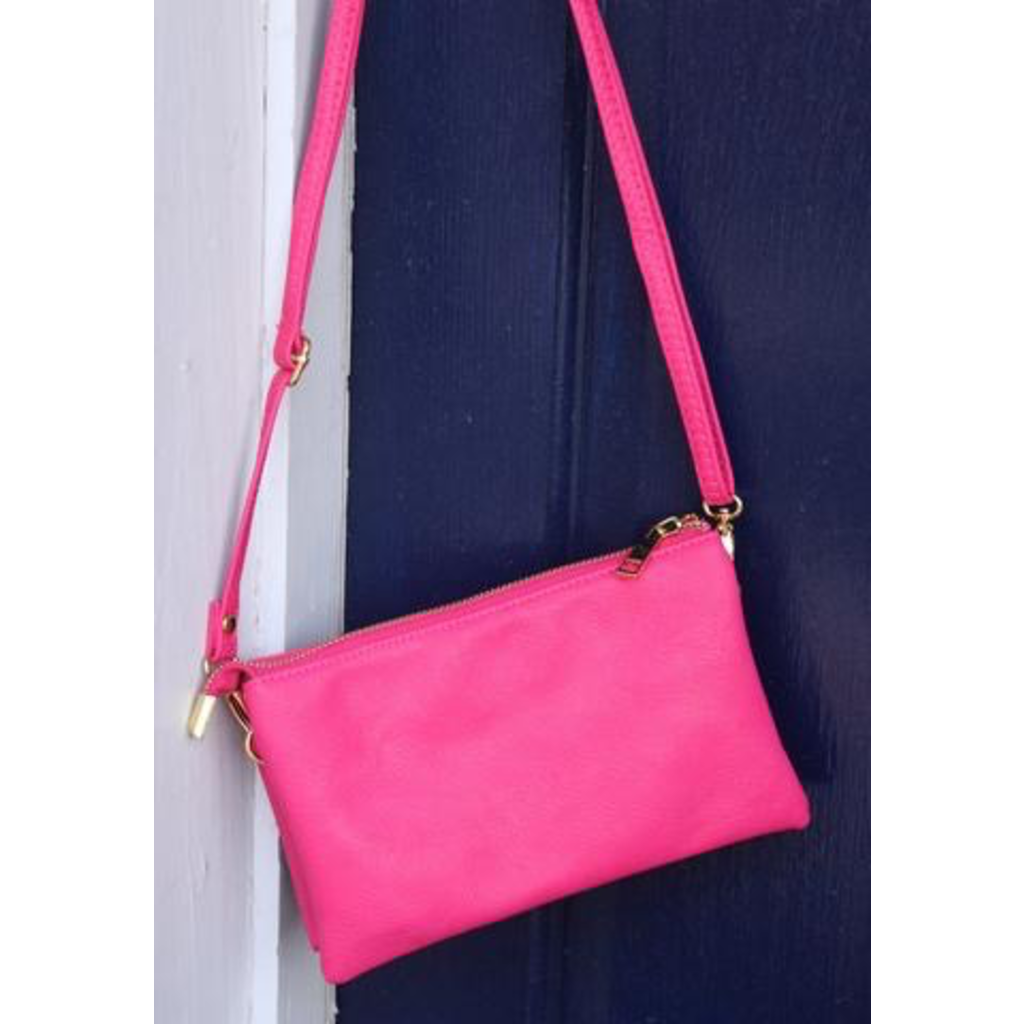 Caroline Hill Liz Crossbody Bag - Hot Pink