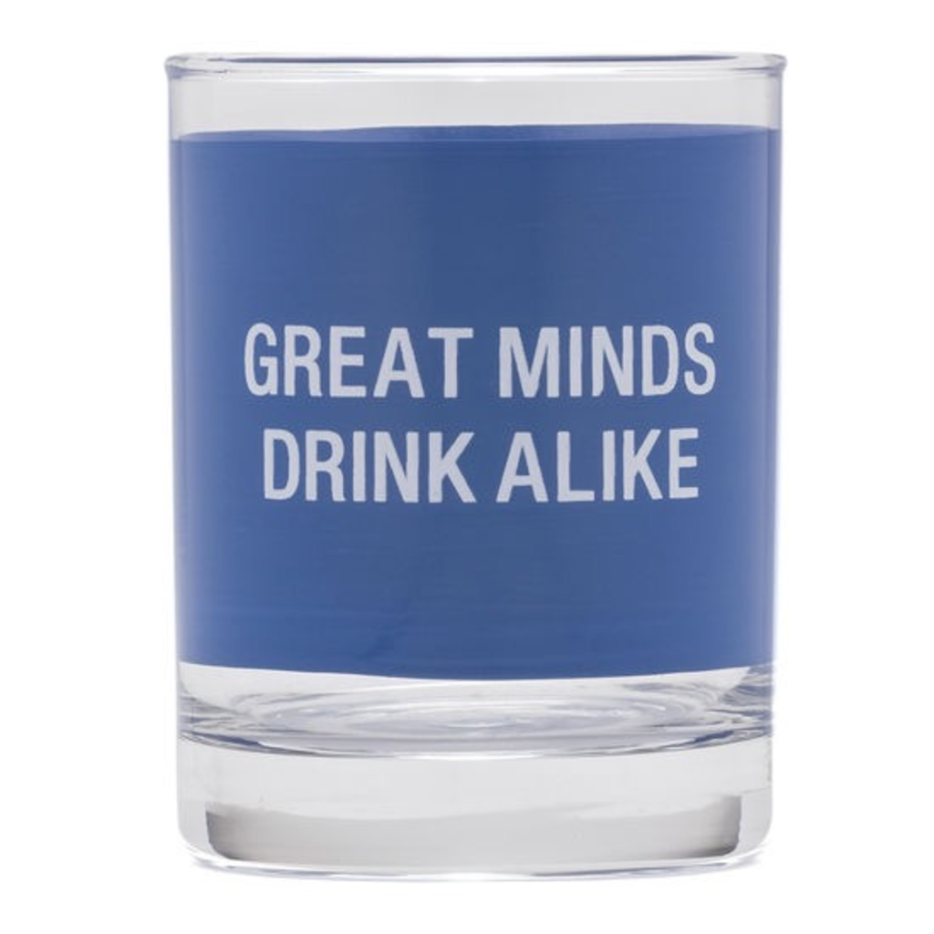 About Face Designs: Great Minds Rock Glass