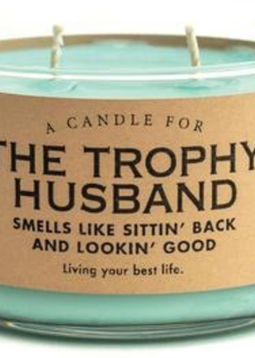 Whiskey River Soap Co. Trophy Husband Candle