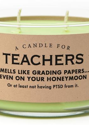 Whiskey River Soap Co. Teachers Candle