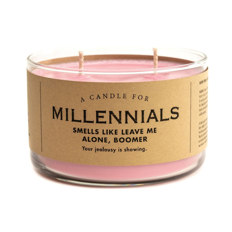 Whiskey River Soap Co. Millennials Candle
