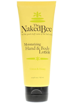 The Naked Bee The Naked Bee - Citron & Honey Hand & Body Lotion  2.25 oz