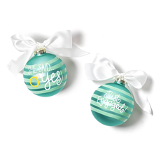 Coton Colors - She Said Yes Just Engaged Glass Ornament