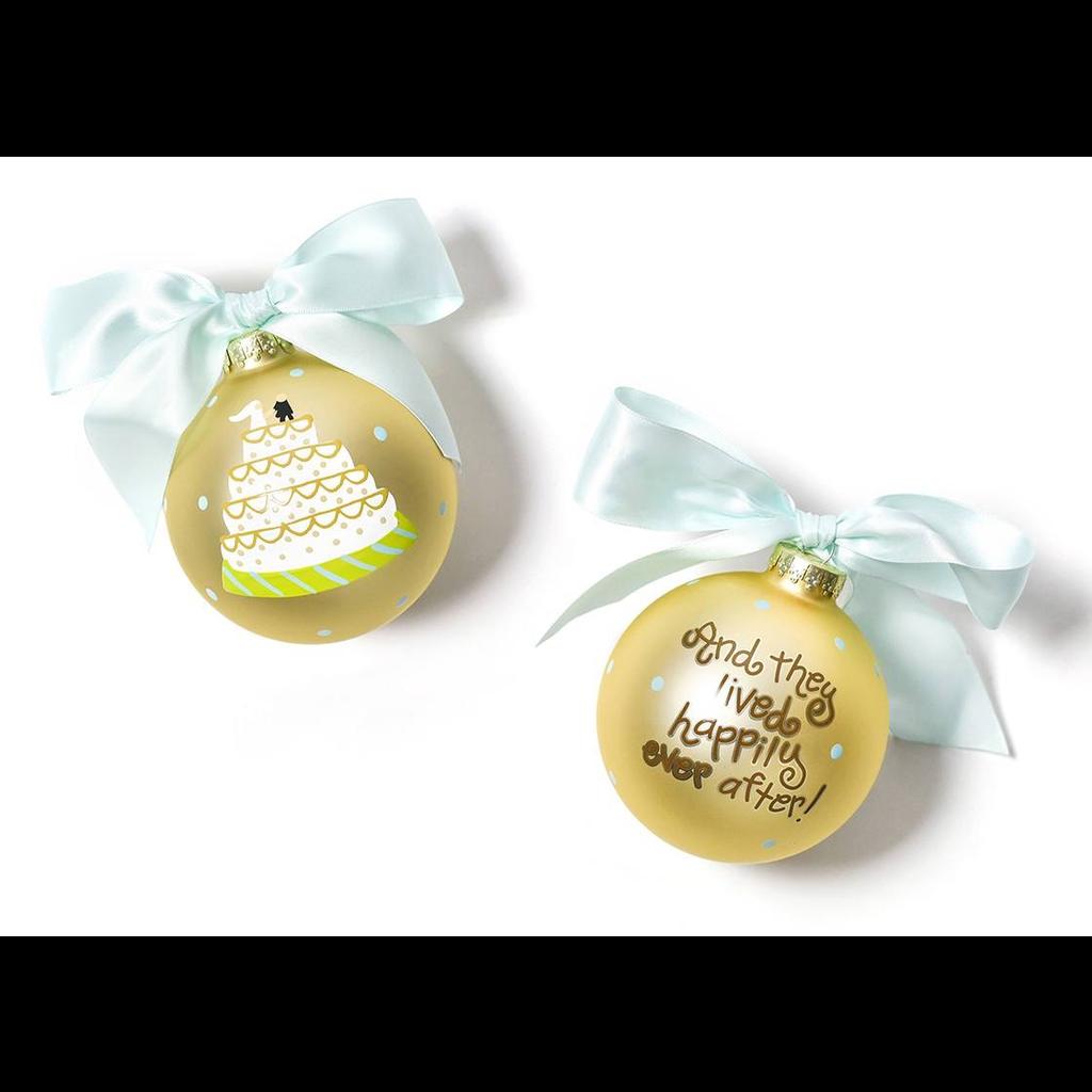 Coton Colors - Wedding Cake Glass Ornament